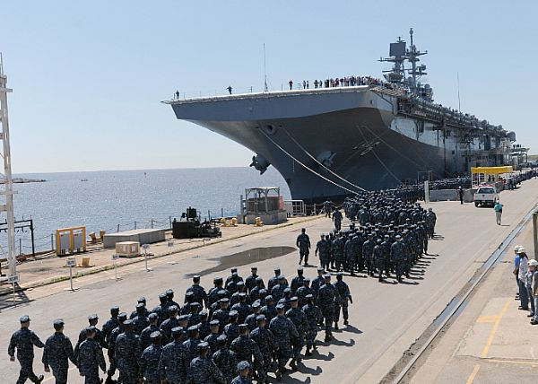 USS AMERICA Turned Over to the Navy