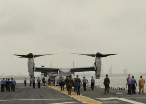sailors and osprey in Colombia